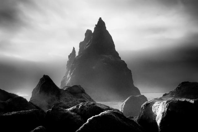 Sea stacks along Iceland's southern coast.