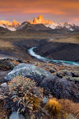 Rio de las Vueltas near Chalten, Argentina