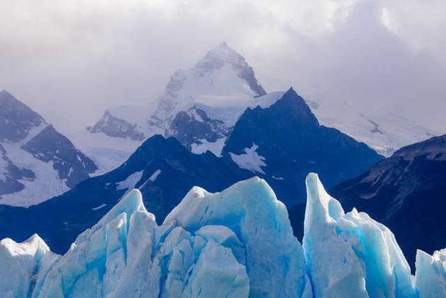 Perito Moreno Glacier and Andean peaks, Argentina
