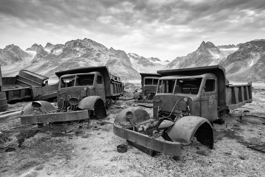 Abandoned United States air base used during WWII, Eastern Greenland