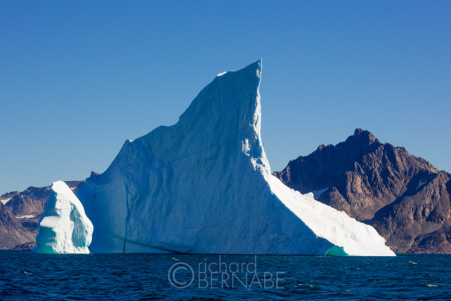 Titanic iceberg in the Angmagssalik Fjord, Eastern Greenland