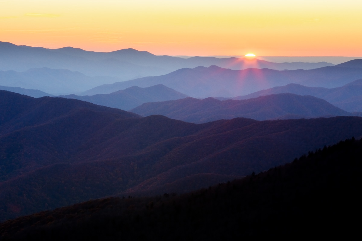 Clingmans Dome Sunset, Great Smoky Mountains National Park