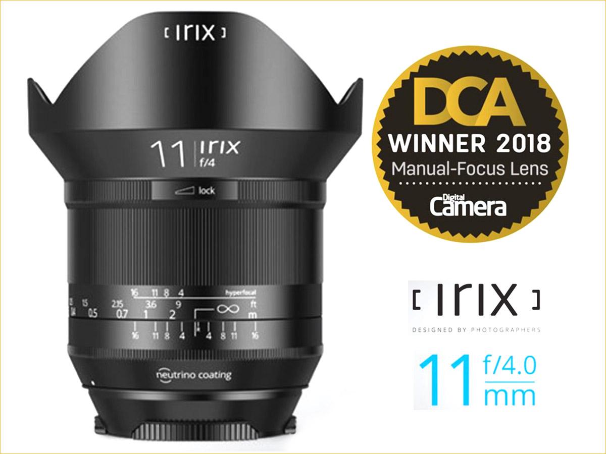 Irix Lens Wins the Best in Class Award
